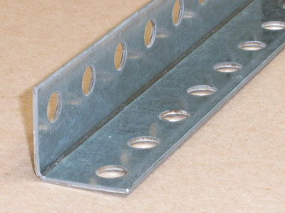 A-114 14 gauge roll formed angle with holes