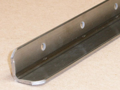 A-115 stainless roll formed angle with holes