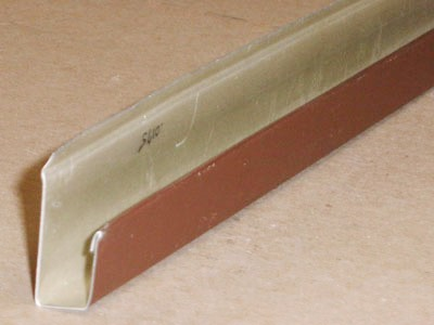 B-105 roll formed prepainted aluminum J trim