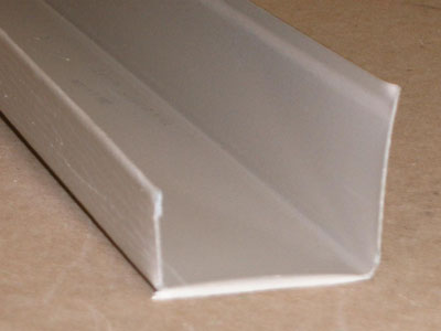 B-130 roll formed prepainted aluminum J trim
