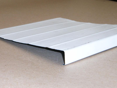 B-136 roll formed pre-painted aluminum fascia