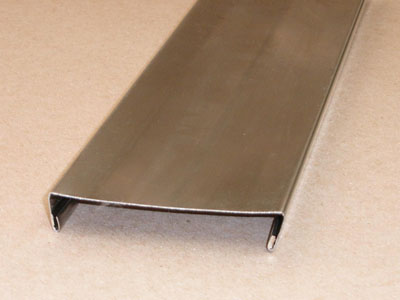C-103 24 gauge roll formed stainless railroad car trim