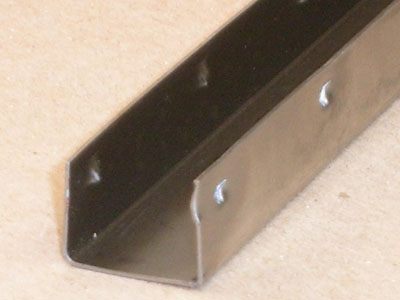 C-125 23 gauge roll formed and lanced channel
