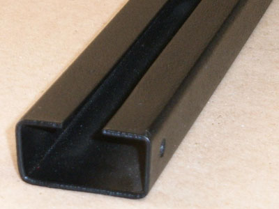Cee-112 14 gauge roll formed and powder coated profile