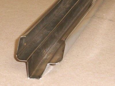 R-104 20 gauge roll formed cement plank edging tongue profile with miter