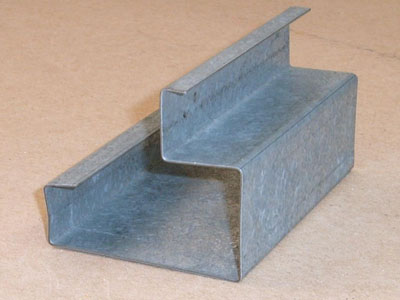 S-128 22 gauge roll formed galvanized end post