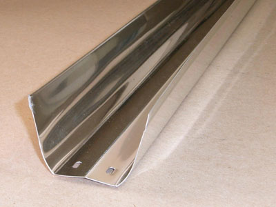S-129 roll formed aluminum light reflector