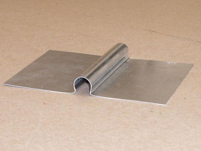 T-101 aluminum heat transfer plate for 0.375 PEX tubing