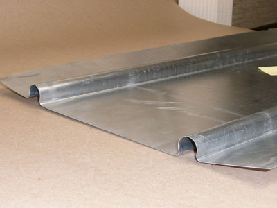 T-110 aluminum heat transfer plate for 0.625 PEX tubing