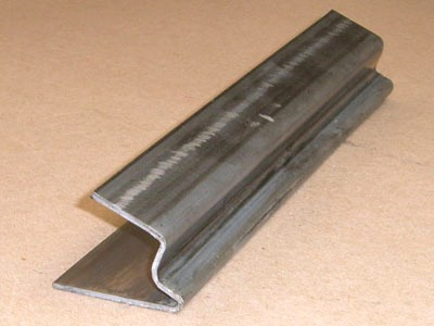 Z-104 12 gauge roll formed steel conveyor guide